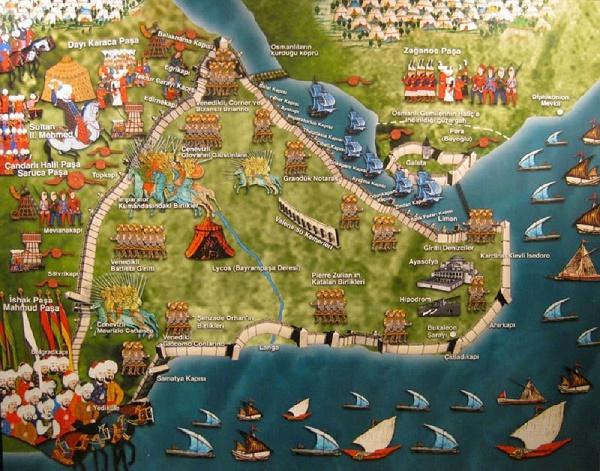 istanbulun fethi haritası
