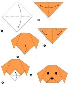 origami kopek yapimi